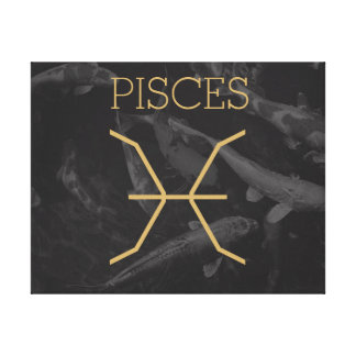 Pisces Zodiac Sign   Custom Background + Text