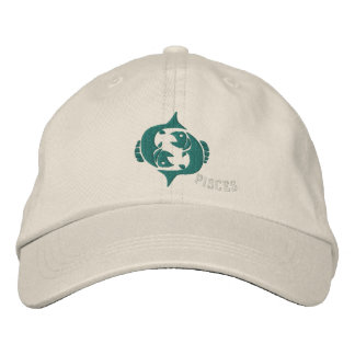 Pisces Zodiac Sign Embroidery Feb 19 - March 20 Baseball Cap