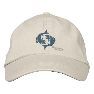 Pisces Zodiac Sign Embroidery Feb 19 - March 20 Embroidered Baseball Caps