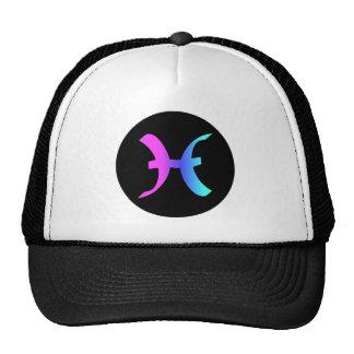 Pisces zodiac sign hat circle crest
