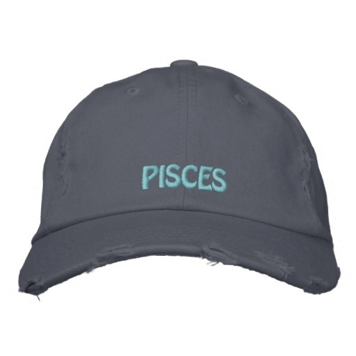 Pisces Zodiac Sign Hat Embroidered Baseball Caps