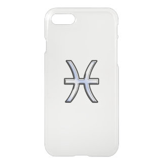 Pisces Zodiac Sign on Carbon Fiber iPhone 7 Case