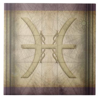 Pisces Zodiac Sign Tile