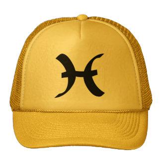 Pisces Zodiac Sign Yellow Gold Cap
