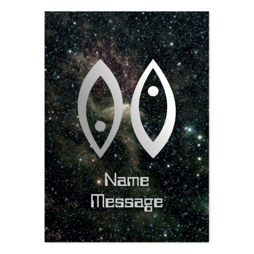 Pisces Zodiac Star Sign Universe Business Card Template