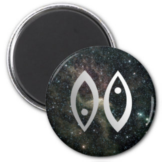 Pisces Zodiac Star Sign Universe Refrigerator Magnet