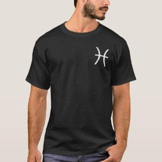 Pisces Zodiac Symbol Black T-Shirt