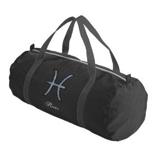 Pisces Zodiac Symbol Element Gym Duffel Bag