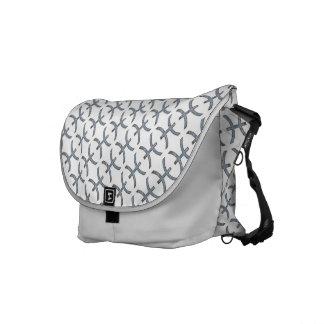 Pisces Zodiac Symbol Element Messenger Bag
