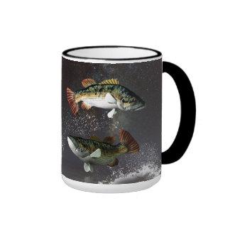 Pisces Zodiac Symbol Ringer Coffee Mug