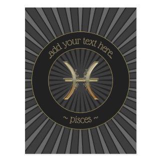 Pisces Zodiac Symbol Postcard