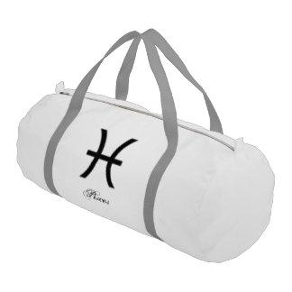 Pisces Zodiac Symbol Standard Gym Duffel Bag