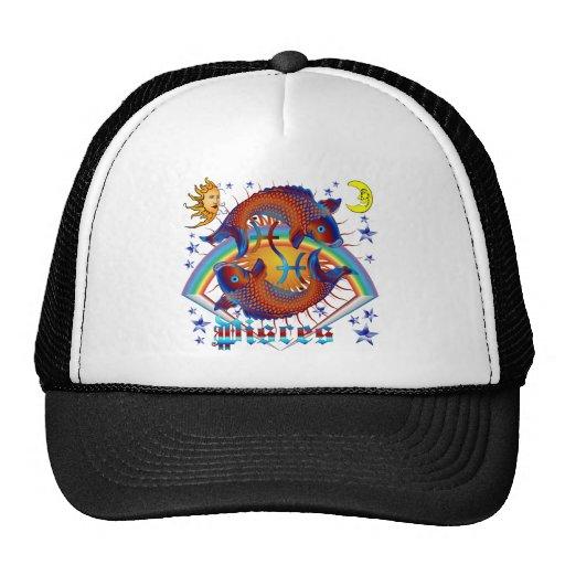 Pisces-Zodiac-V-1 Mesh Hats