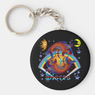 Pisces-Zodiac-V-1 Key Ring