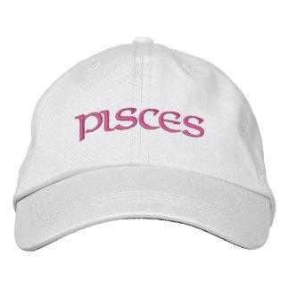 Pisces Zodiac White/Magenta Cap