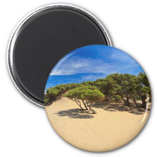 Piscinas dune - Sardinia, Italy 6 Cm Round Magnet