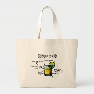Pisco Sour Cocktail Recipe Large Tote Bag