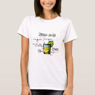Pisco Sour Cocktail Recipe T-Shirt