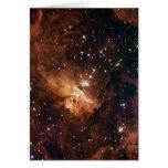 Pismis 24 brown starry sky greeting card