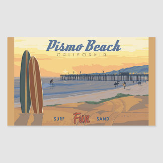Pismo Beach Califorina Rectangular Sticker