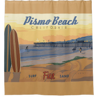 Pismo Beach Califorina Shower Curtain