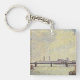 Pissarro Art Work Single-Sided Square Acrylic Key Ring