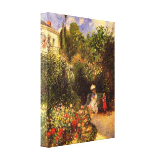"Pissarro's ""The Garden at Pontoise"" Gallery Wrap Canvas"
