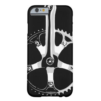 Pista Bicycle Crankset - white on black Barely There iPhone 6 Case