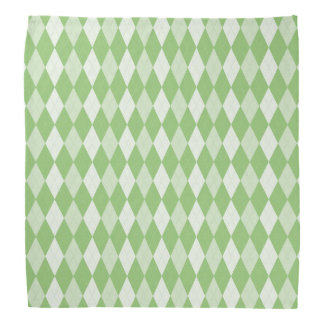 Pistachio Green Argyle Pale Green Small Diamond Kerchief
