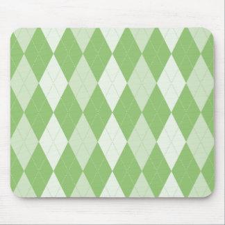 Pistachio Green Argyle Pale Green Small Diamond Sh Mouse Pad