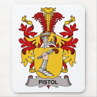 Pistol Family Crest Mouse Pads