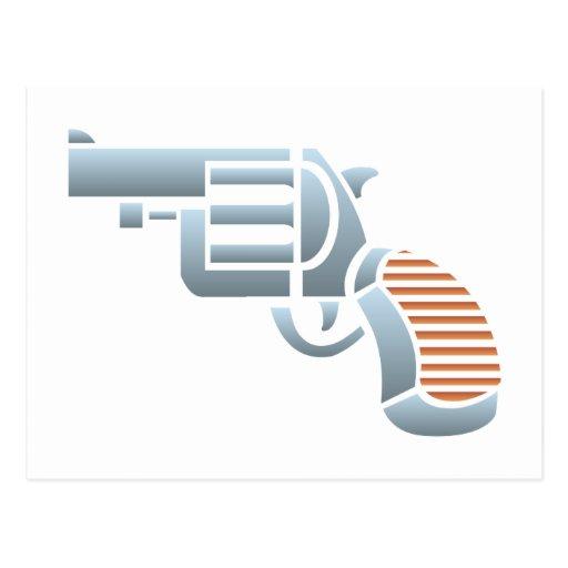 Pistol gun Colt pistol Postcard