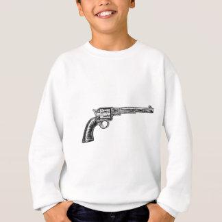 Pistol Gun Vintage Retro Woodcut Style Sweatshirt