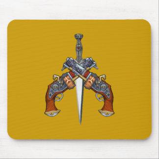 Pistolen Dolch pistols dagger Mousepads
