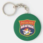 Piston Peak Air Attack Badge Keychains