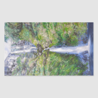 Pistyll Rhaeadr Waterfall Rectangular Sticker