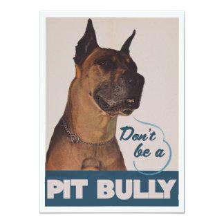 Pit Bull 13 Cm X 18 Cm Invitation Card