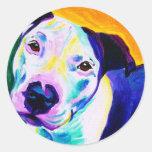 Pit Bull #1 Round Sticker