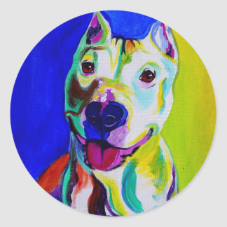Pit Bull #3 Round Stickers
