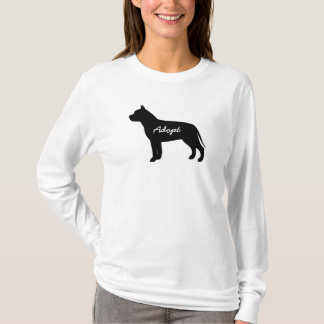 Pit Bull Adopt Logo - Long Sleeve Shirt