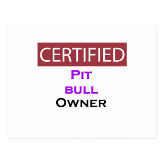 Pit bull Certified Owner Postcard