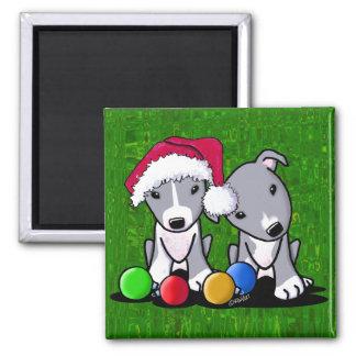 Pit Bull Christmas Magnet