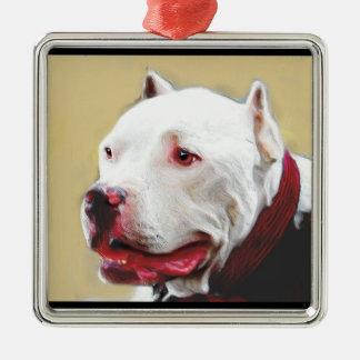 Pit Bull Christmas ornament