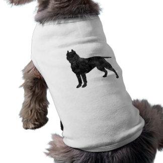 Pit Bull Dog Grunge Silhouette Shirt