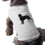 Pit Bull Dog Grunge Silhouette Sleeveless Dog Shirt