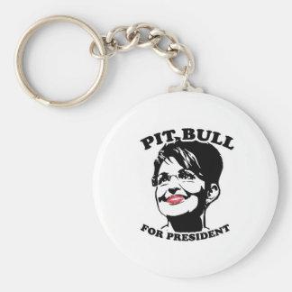 Pit Bull for President Basic Round Button Key Ring