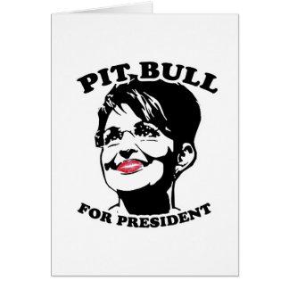 Pit Bull for President Cards
