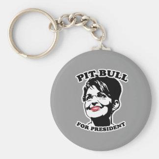 Pit Bull for President Key Chains