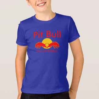 Pit Bull Full of Energy Slogan Tee Youth Shirt