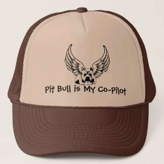 Pit Bull is My Co-Pilot - Trucker Style Ball Cap